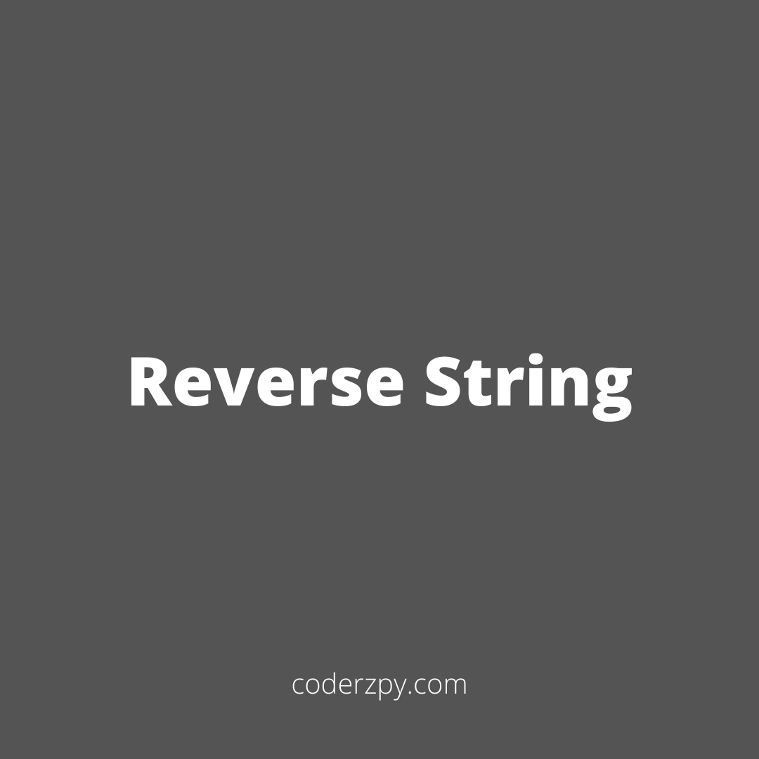 Reverse String